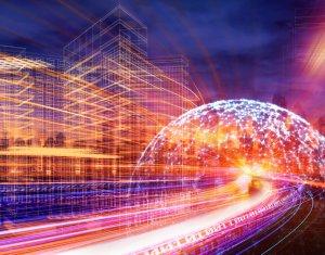 High speed internet or fiber internet concept for global communications